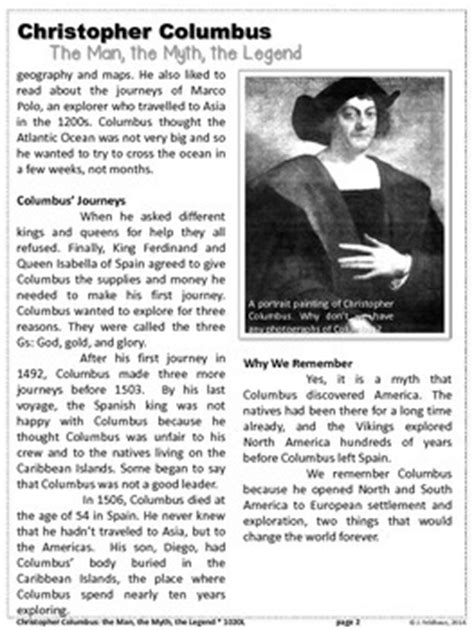 christopher columbus printable biography freebie christopher columbus close reading biography by