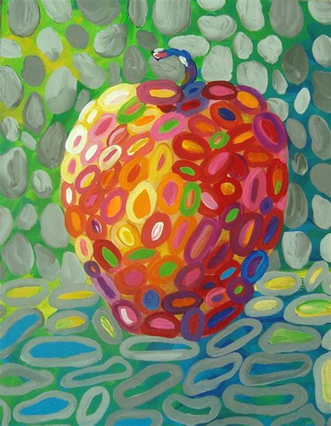 painting for mac abstract apple fruit painting modern by tracyhallart on etsy