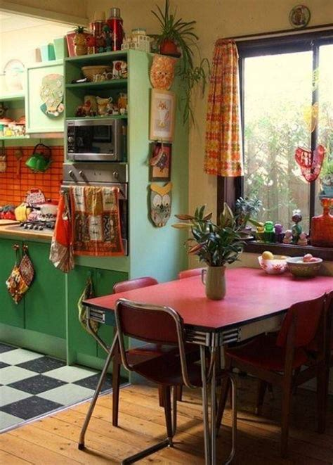 retro kitchen decor ideas vintage home interior pictures interior bohemian style