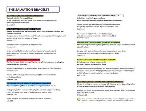 aaronwilson.org: Salvation Bracelet and Bible Verses