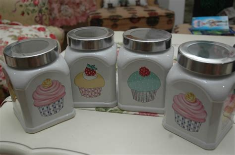 cupcake canisters for kitchen 17 best images about cupcake kitchen on