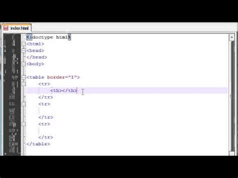 css tutorial header xhtml and css tutorial 12 table headers and movie