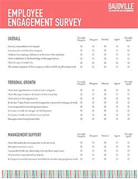 employee recognition survey template baudville
