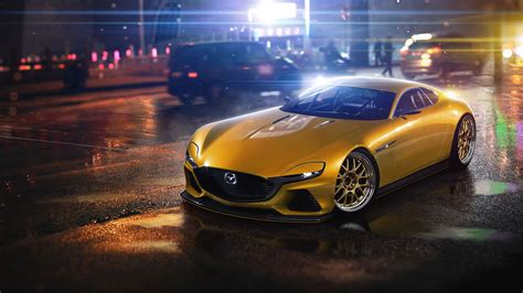 Mazda Rx Vision Concept Car by Mazda Rx Vision Concept Hd Cars 4k Wallpapers Images