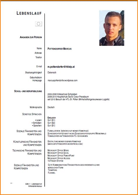 Tabelarischer Lebenslauf Bild 9 Hobbys Lebenslauf Questionnaire Templated