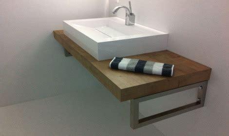 Schwere Holzplatte An Wand Befestigen by Waschtischkonsole Selber Planen Wir Bauen Unser Haus