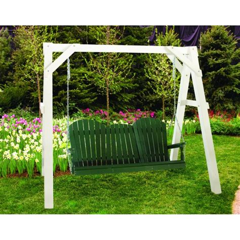 adirondack porch swing poly 5 foot adirondack outdoor porch swing green
