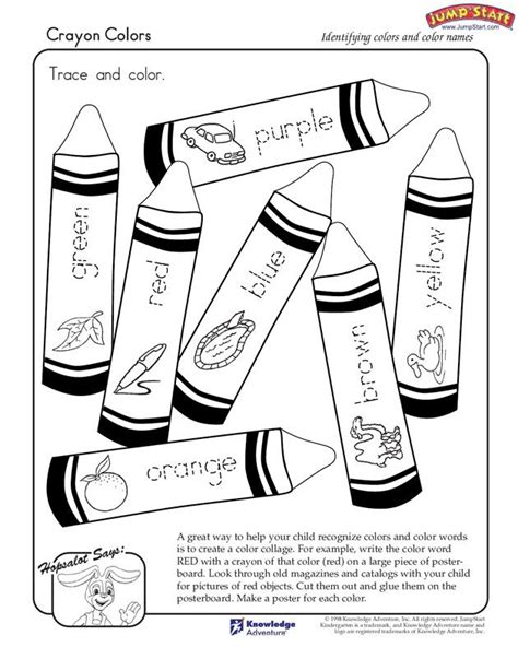 color words worksheet quot crayon colors quot kindergarten coloring worksheets