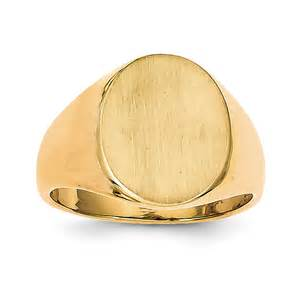 14k yellow gold oval s signet ring qgrs134