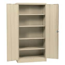 Metal Kitchen Storage Cabinets Sandusky Assembly Steel Storage Cabinet Putty 36 Quot W X 18 Quot D X 72 Quot H Sam S Club