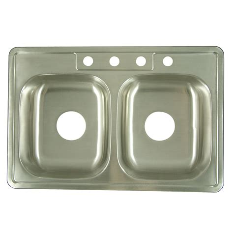 Brushed Steel Kitchen Sink Gourmetier K33226dbn Carefree Drop In Bowl Kitchen Sink Brushed Stainless Steel