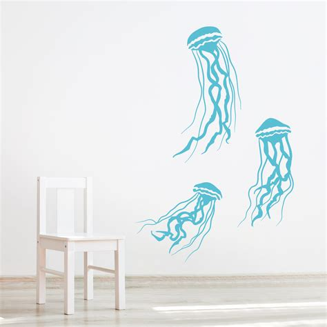 underwater wall stickers jelly fish wall decal underwater decal decal nursery