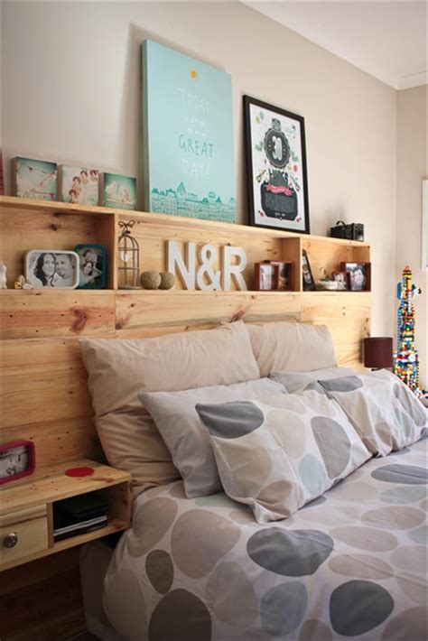 headboard with shelving diy pallet headboard with shelves
