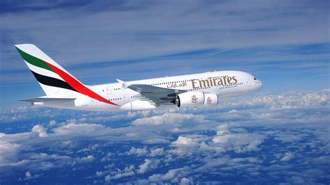 emirates aircraft plane 4k ultra hd wallpaper and background image