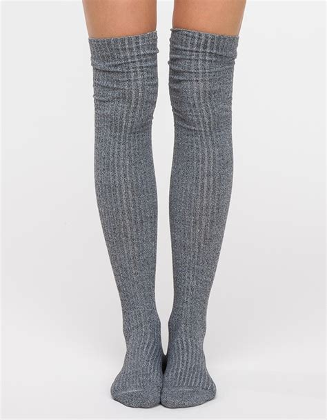 Knee Socks lyst baserange knee socks in gray
