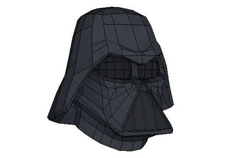Darth Vader Mask Papercraft - wars papercraftsquare free papercraft