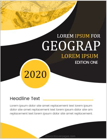 geography assignment cover pages ms word cover page