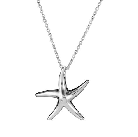 sterling silver starfish necklace and pendant starfish