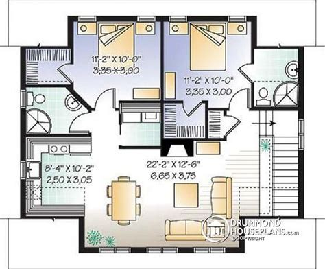 garage plans with apartment one level house plan w3935 detail from drummondhouseplans com