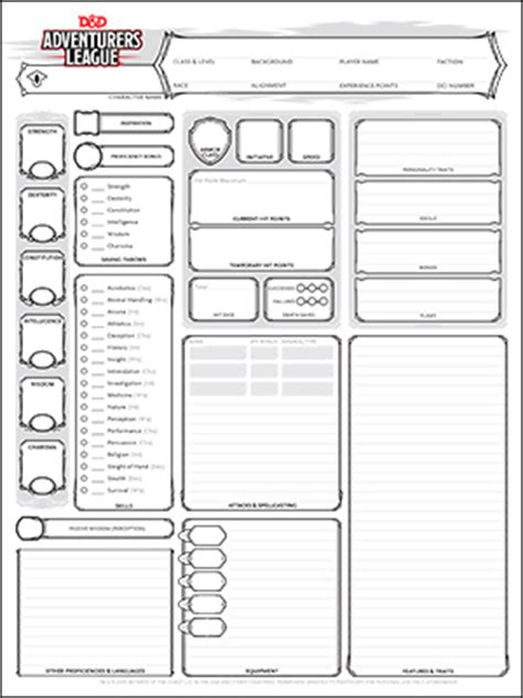 Dungeon Dragons Adventure System Large Villain Card Template by Character Sheets Dungeons Dragons
