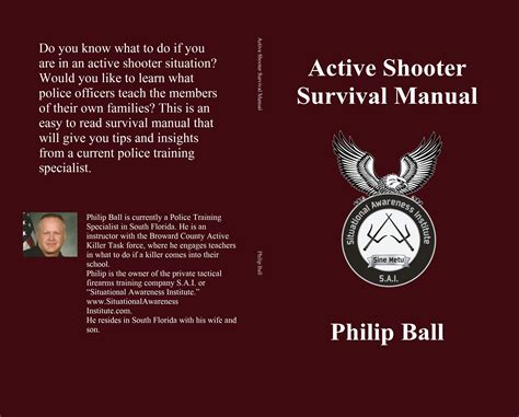active shooter survival manual by philip 3 95