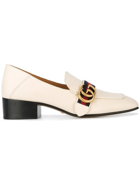gucci loafers white gucci peyton loafers in white lyst