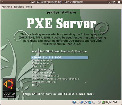 pxe boot server installation steps in ubuntu server vm