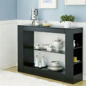 Contemporary Buffet Table Furniture Of America Khanelle Black Multi Storage Tempered