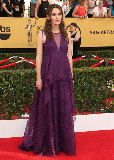 Maternity Gowns Get At Sag by Keira Knightley Dresses Baby Bump In Pretty Purple