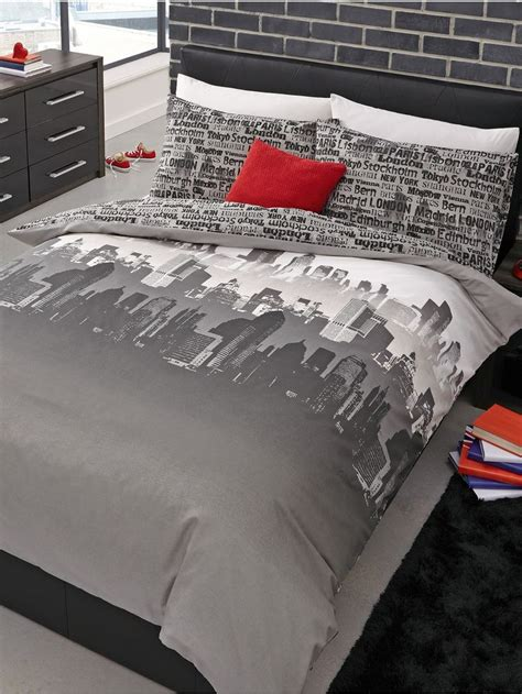 cityscape bedding cityscape duvet cover set littlewoods com bedroom