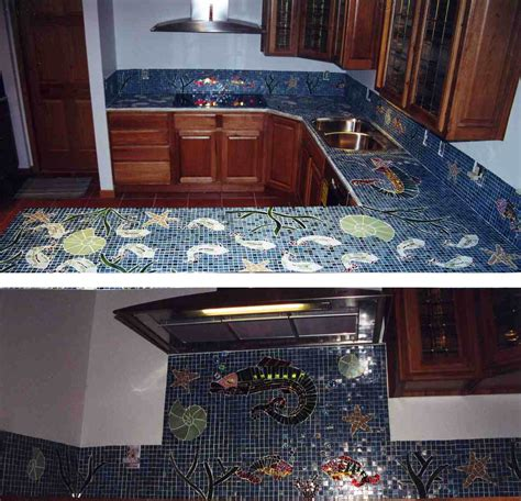 Kitchen Mosaic by Mosaic Kitchen Countertops Images Frompo 1