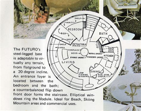 futuro house floor plan the futuro house project information photos locations