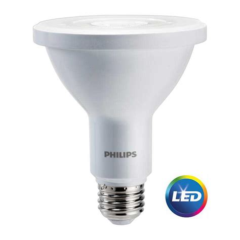 Lu Led Philips Outdoor philips 75w equivalent bright white par30l indoor outdoor