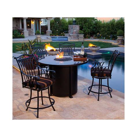 Solano dining gas fire pit table woodlanddirect outdoor solano dining gas fire pit table outdoor
