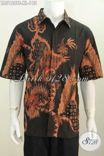 produk baju batik pria dewasa hem batik bagus desain busana hem batik lengan pendek produk terbaru dari solo