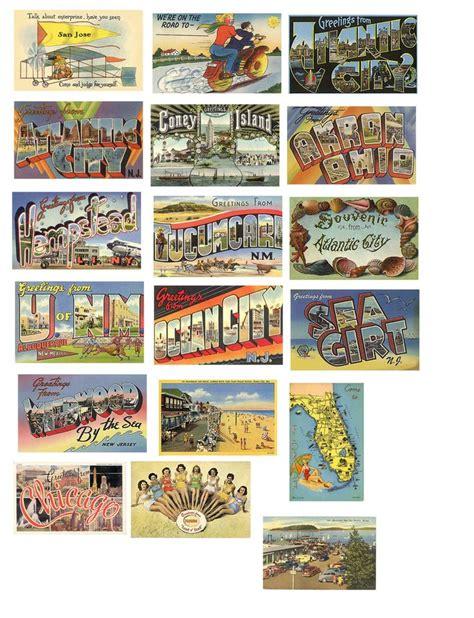 printable travel postcards 84 best crafts printables postcards sts travel