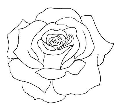 rose tattoo stencil free flower outline tattoos outline stencil line