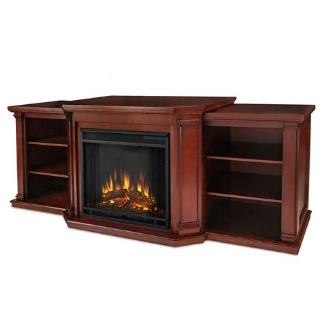 Entertainment Center With Electric Fireplace Real Valmont Entertainment Center Electric Fireplace In Mahogany