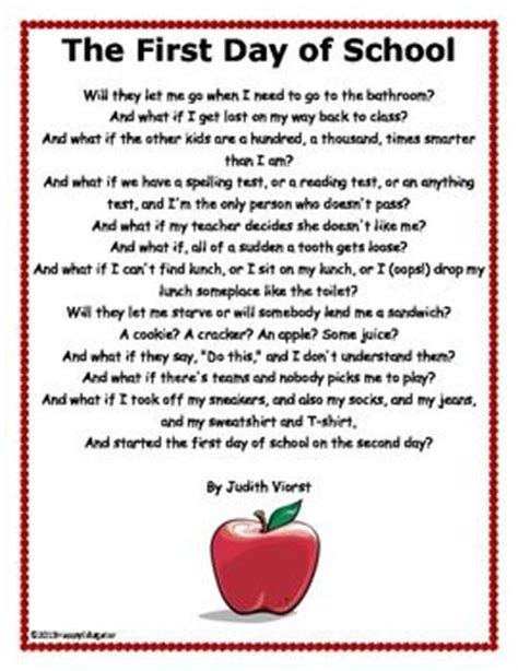 My Day Of High School Essay by Best 25 Day Poem Ideas On Preschool Back To School Poem And