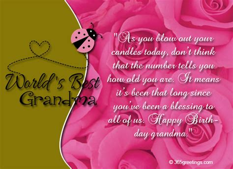 Grandmother Birthday Card Messages
