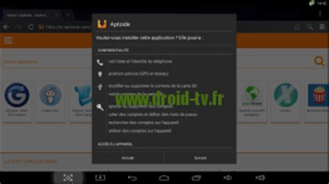 aptoide tv install astuce installer application android incompatible sur