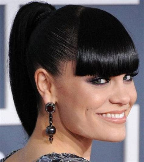 black hairstyles with bangs ponytail hairstyles with bangs fade haircut
