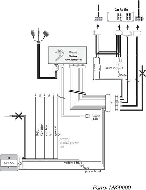 parrot mki9200 installation wiring diagram parrot 9200