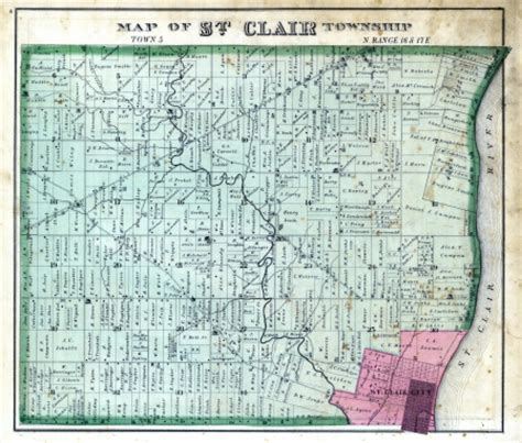 st clair county michigan its history and its michigan 1876 st clair township st clair county stock