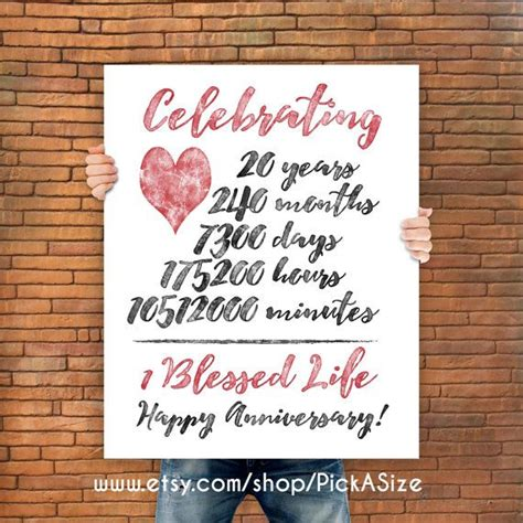 20th Wedding Anniversary Ideas Husband by Best 25 20 Year Anniversary Ideas On