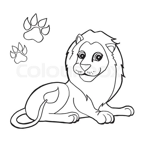 lion paw coloring page image of paw print with lion coloring pages vector