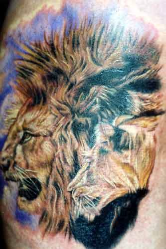 biomechanical lion tattoo lion tattoos tattoosphoto