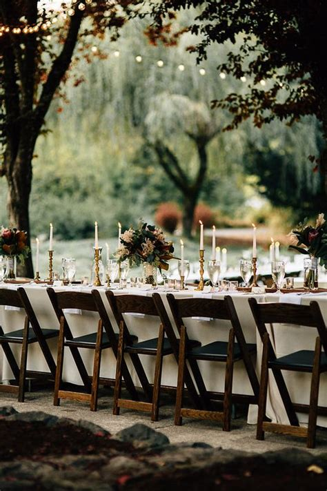 backyard fall wedding ideas fall reception table idea for a backyard wedding fall