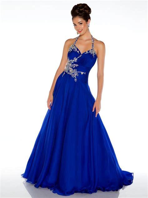 royal blue prom dresses halter handmade beaded royal blue 2013 long prom dresses