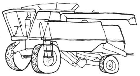 combine harvester line drawing homeschool kiddos
